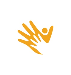 Hand care logo template icon business vector