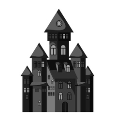 Witch castle icon gray monochrome style vector
