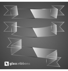 Glass ribbons vector