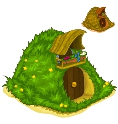 House inside of hill for magical inhabitants vector