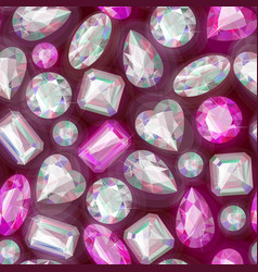 seamless sparkling gems vector image