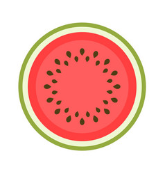 Icon of a sweet watermelon isolated on white vector