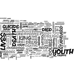 Youth heroes a double standard text word cloud vector