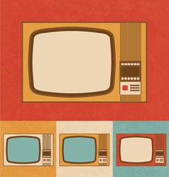 Retro Icons - Small Television Set vector image