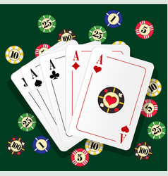 Casino playing cards vector