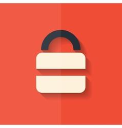 Padlock web icon flat design vector
