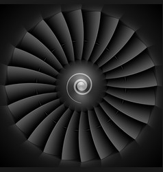 Jet engine turbine blades vector image