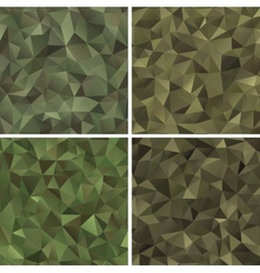 Set of abstract military camouflage vector