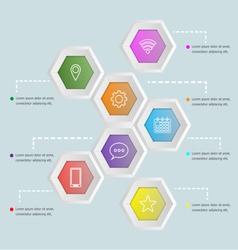 3d hexagon shape infographic template vector