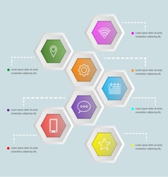 3d hexagon shape infographic template vector