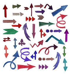 Watercolor Arrows vector image