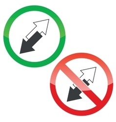 Opposite permission signs set vector