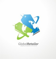 Global retailer creative symbol concept vector image