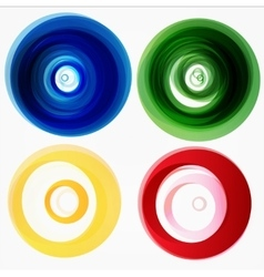 Set of round colorful shapes vector
