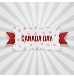 Canada day realistic national badge vector