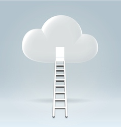 Welcome to the cloud vector