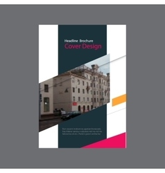 Annual report brochure flyer template design vector