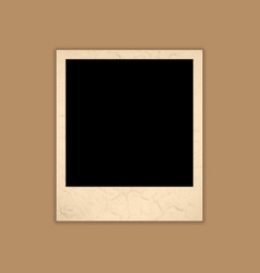 Blank Grunge Photo Frame Polaroid Style vector image