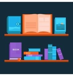 Bookshelf vector