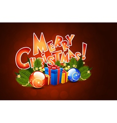 Christmas Greeting Card Template with Decorations vector image vector image