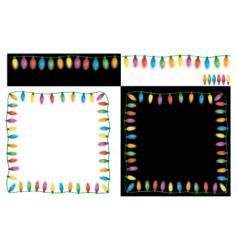 Christmas lights set vector image vector image