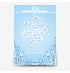 Christmas poster with snowflake divider vector