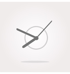 Clock icon web button sign Web Icon Art vector image