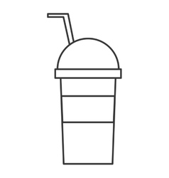 Cold drink cup icon vector