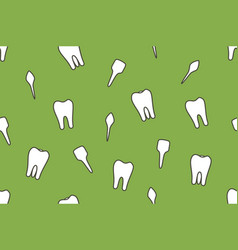 Dental seamless pattern - tooth type vector
