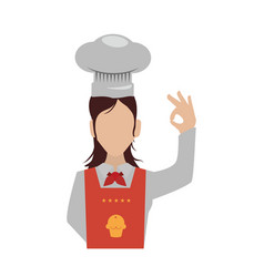 Female chef faceless hat vector