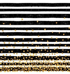 Festive pattern of random gold dots vector image
