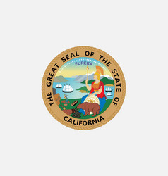 Flag of california usa vector