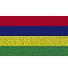 Flags mauritius on denim texture vector