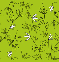 Green vegetable seamless pattern vector