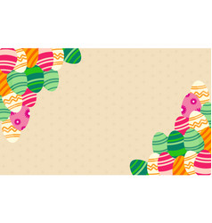 Greeting card of easter theme art vector