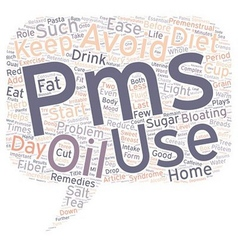 Home remedies for premenstrual syndrome pms text vector