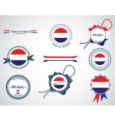 Made in Netherlands - set of seals badges vector image