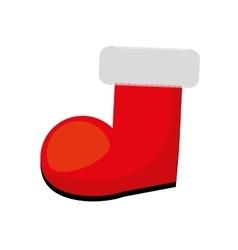 Merry christmas socks icon vector
