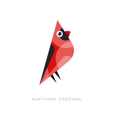 minimal logo design of northern cardinal abstract vector image