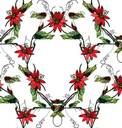 Passiflora frame pattern2 vector image vector image