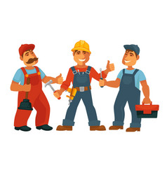 people professions builder constructor or vector image vector image
