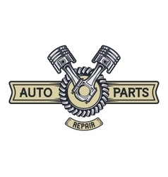 Repair service emblem signboard vector image