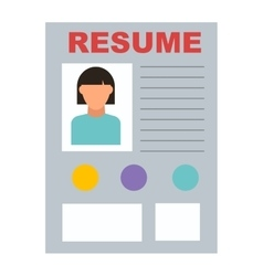 Resume icon vector image vector image