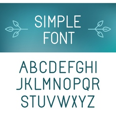 Simple font vector