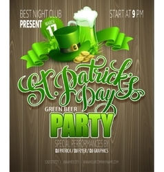 St Patrick Day poster vector image vector image
