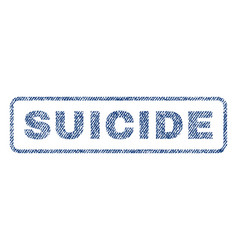 Suicide textile stamp vector