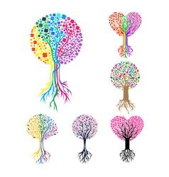 Tree Heart Logo Template vector image vector image
