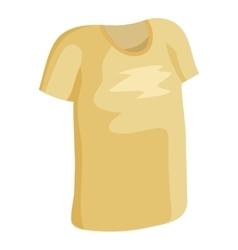 Tshirt icon cartoon style vector image vector image