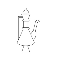 Turkish teapot icon in outline style vector