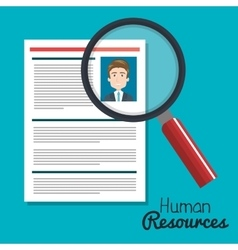 Human resources search choose curriculum male vector